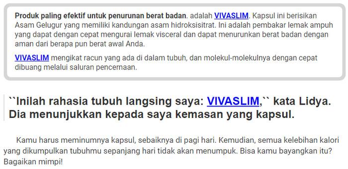 VivaSlim Indonesia harga, cara pakai, kesaksian - herbal..